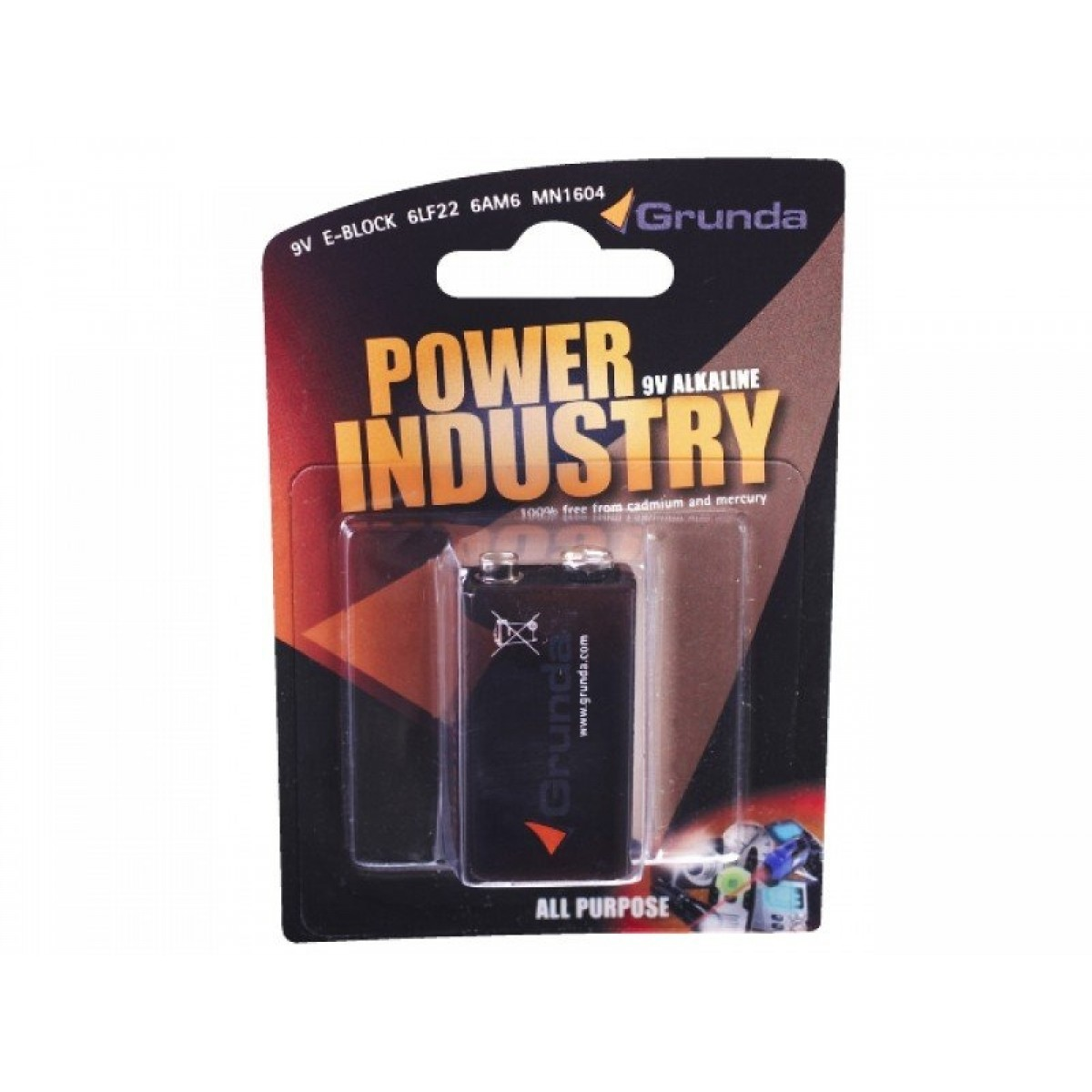 Batteri 1 stk alkaline 9V-31