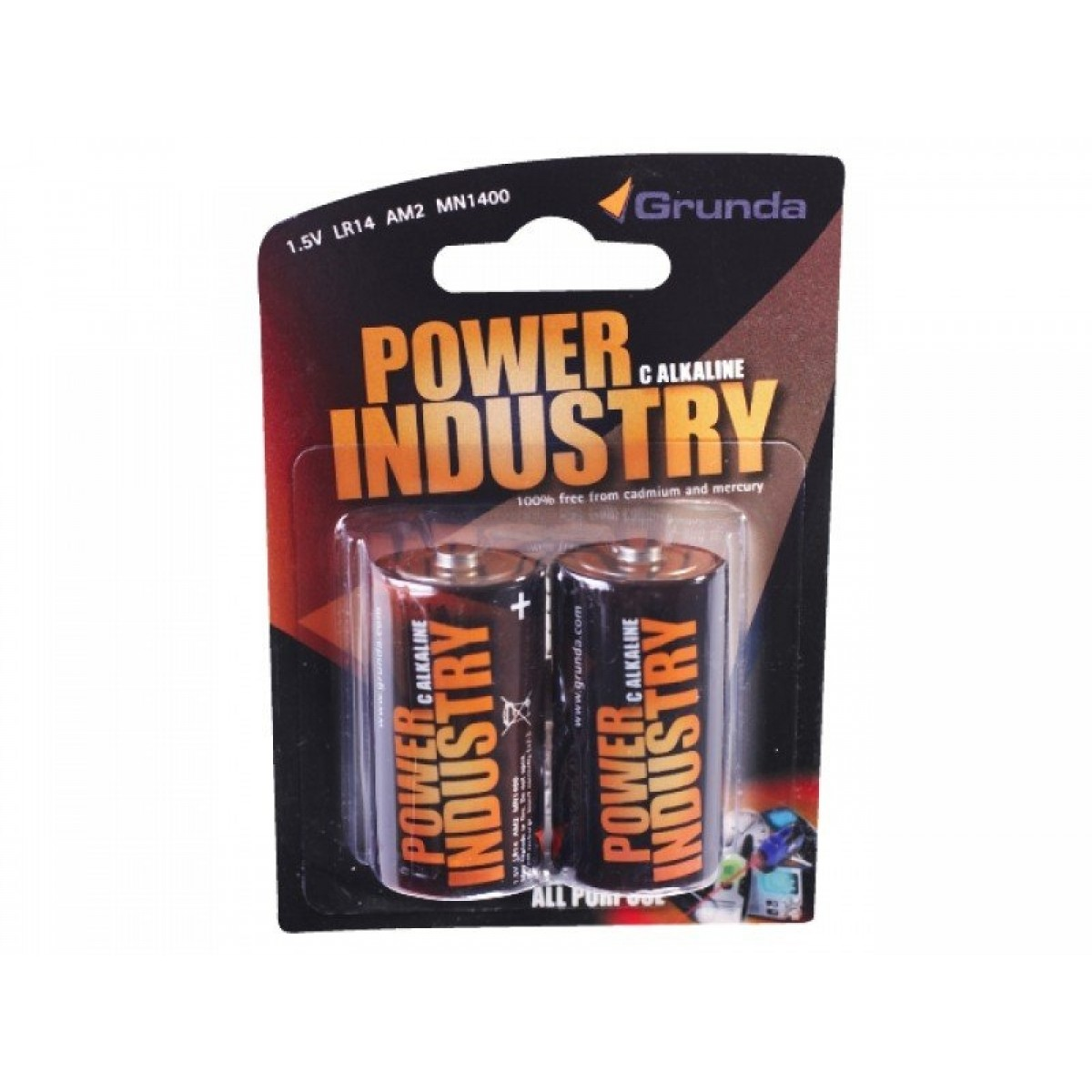 Grunda Power Batteri 2 stk Alkaline C-31