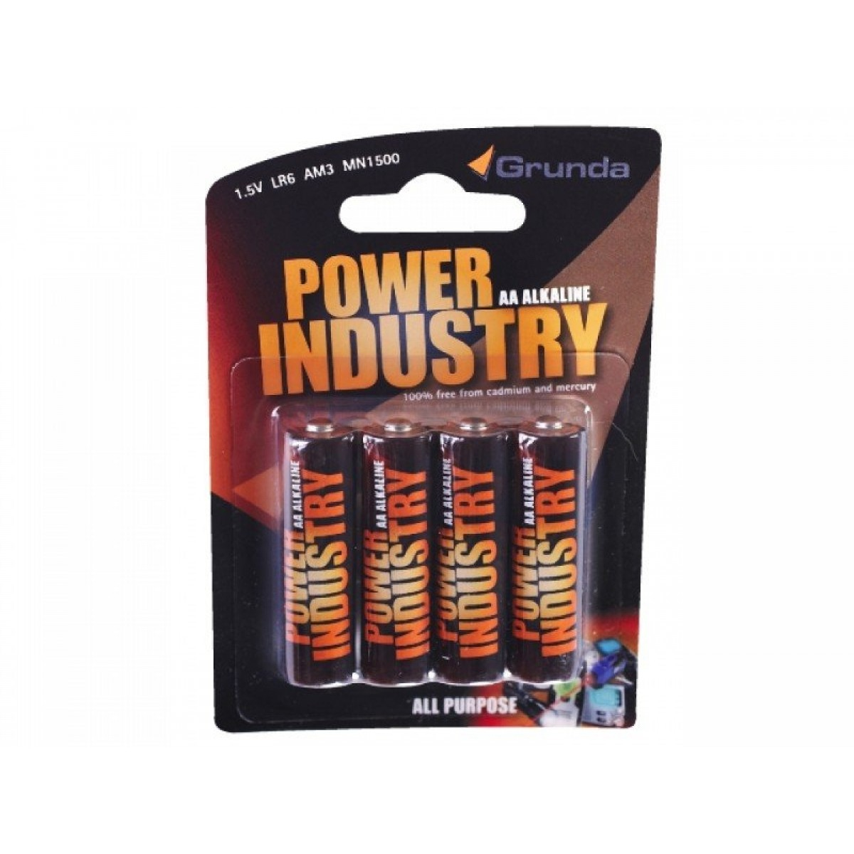 Grunda Power Batteri 4 stk Alkaline AA-31