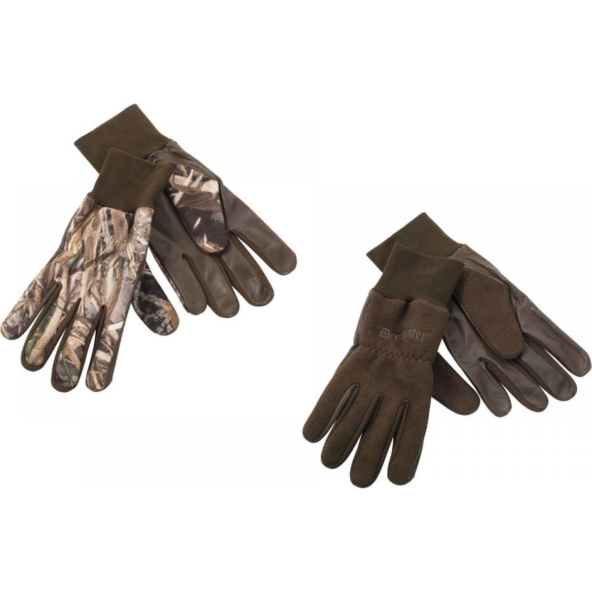 Fleece Handske m. Læder-31