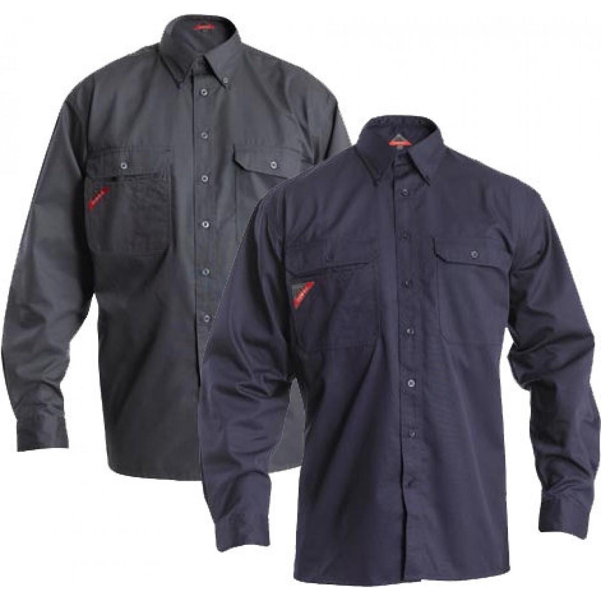 Frank arbejdsskjorte med 2 brystlommer-31