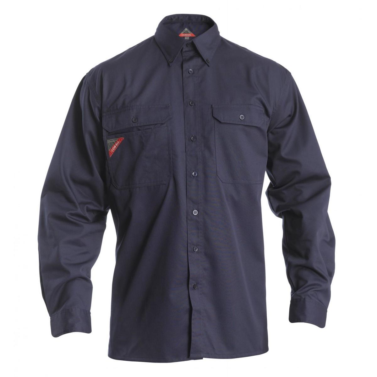 Frank arbejdsskjorte med 2 brystlommer-32