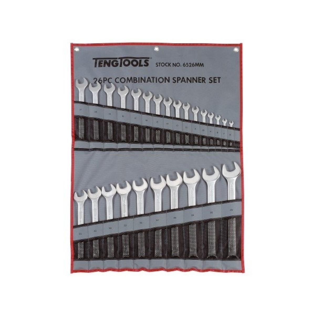 Teng Tools Ringgaffelnøglesæt 26 dele-31