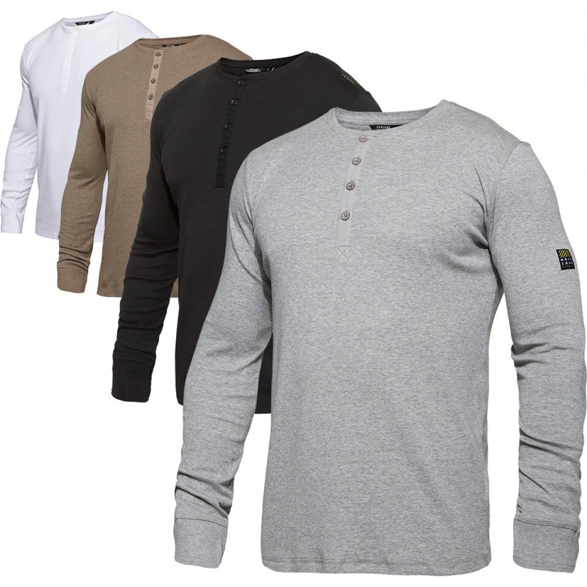 F. Engel Workzone Grandad T-Shirt L/Æ-31